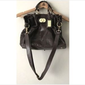 Badgley Mischka Brown Soft Distressed Handbag